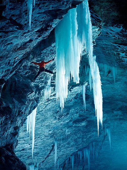 Ice Climbing in Zirknitzgrotte, Austria  Photograph by Martin Lugger