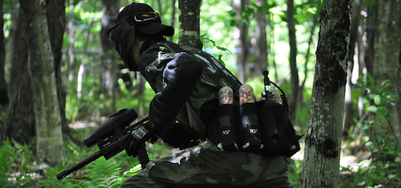 paintball forêt