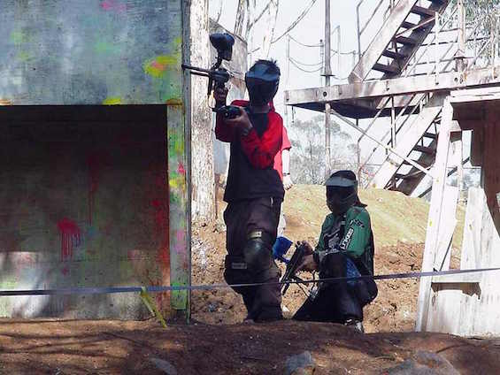 attaque paintball