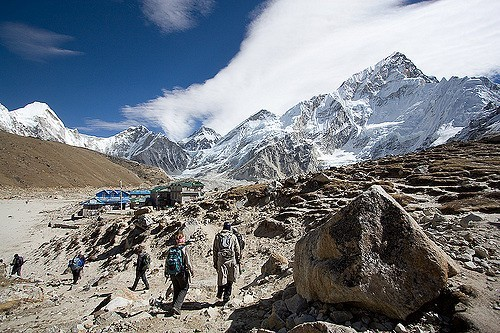 Trekking dans la région de l'Everest ©Flickr