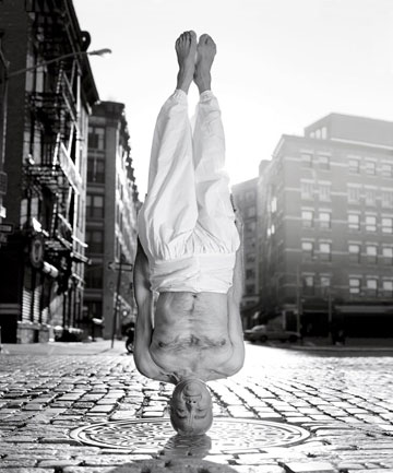 Dharma Mittra Headstand